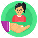 Child Care Child Safety Girl Protection Icon