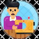 Child Labour Child Tailor Dressmaker Icon