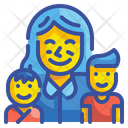 Children And Mother Kid Baby Icon