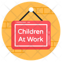 Hanging Board Wall Hanging Board Children At Work Icon
