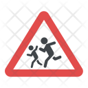 Children Road Sign Icon