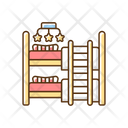 Child Room Bunk Bed Icon