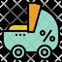 Children Care Cart Icon