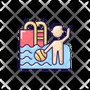 Children Swim Pool Icon