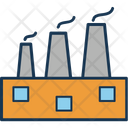 Chimney Factory Industry Icon