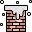 Chimney House Snow Icon