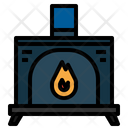 Furniture And Household Living Room Fireplace Icon
