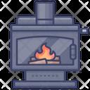 Chimney Winter Interior Icon