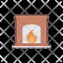 Chimney Fireplace Burn Icon