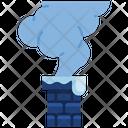 Chimney Fireplace Smoke Icon