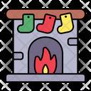 Chimney Christmas Fireplace Icon