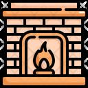 Chimney Fireplace Winter Icon
