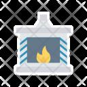 Chimney Winter Fire Icon