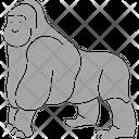 Chimp Gorilla Animal Icon