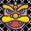 China Lion Mask Lion Mask China Lion Icon