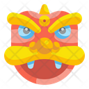 China Lion Mask Lion Mask China Lion Icon