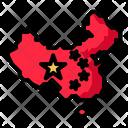 China Map Location Icon