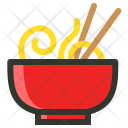 Chinese Chopsticks Noodle Icon