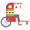 Chinese Carriage Vintage Transport Dragon Cart Icon