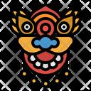 Mask Dragon Chinese Icon