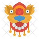 Chinese Dragon Mask Icon