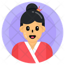 Chinese Girl Chinese Female Chinese Lady Icon