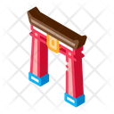 Chinese Arch Columns Icon