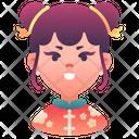 Girl Kid China Icon