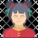 Chinese Girl Girl Chinese Icon