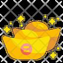 Chinese Gold Ingot Ingot Gold Icon