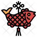 Chinese Hanging Fish Icon