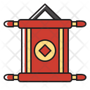 Chinese Invitation Scroll Banner Icon
