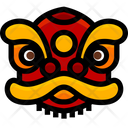 Chinese Lion Mask Icon
