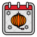 Chinese New Year Calendar Date Icon