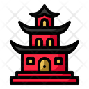 Temple Religion Chinese Icon