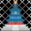 Landmark China Temple Icon