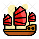 Chinese War Ship Icon