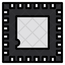 Semiconductor Chip Electronics Icon