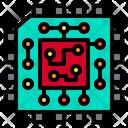 Chip Technology Digital Icon