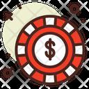 Chip Casino Game Icon
