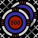Chip Poker Casino Icon