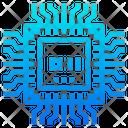 Chip Processor Circuit Icon