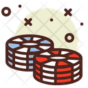 Chips Casino Game Icon