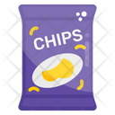 Chips Brand Potato Chips Food Advertising Icon