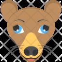 Brown Chiwawa Face Icon