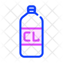 Chlorine Bottle Color Icon