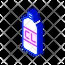 Chlorine Bottle Isometric Icon