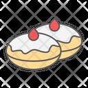 Hanukkah Doughnut Donut Icon