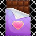 Chocolate Heart Love Icon