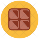 Chocolate Pieces Bar Icon